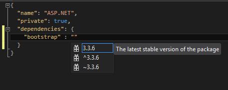 screeshot: Displaying versions