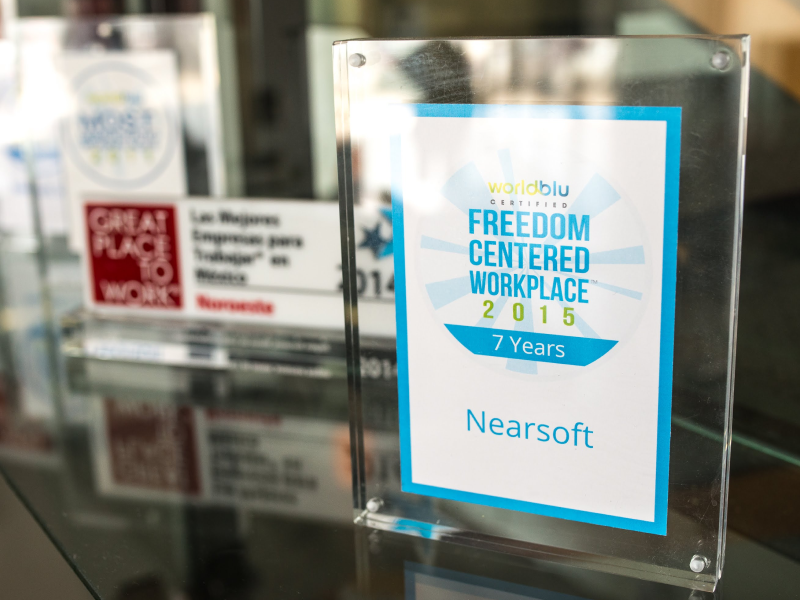 Great Place to Work, and Worldblu Certified Freedom-Centered Workplace